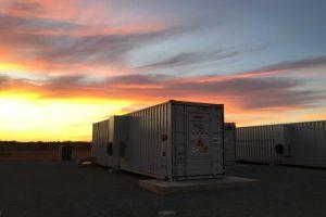 Giant solar batteries installed in Carnarvon, in regional WA, by Horizon Power.