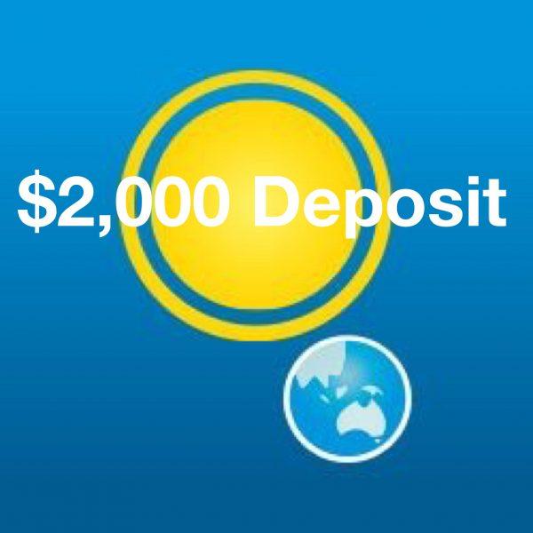 deposit for solar power